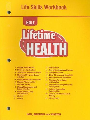 9780030787393: Lifetime Health: Life Skills Workbook