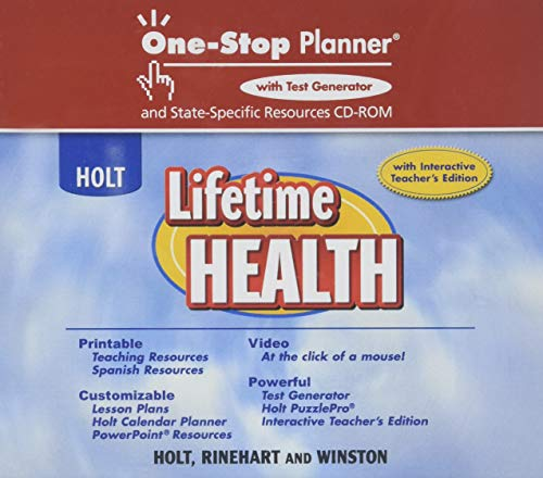 9780030787416: Lifetime Health: One-Stop Planner+ With Test Generator And State-Specific Resources CD-ROM