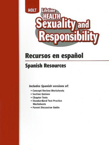 9780030787584: Holt Salud Para Toda la Vida: Sexualidad y Responsabilidad (Spanish Edition)