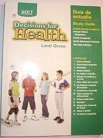 9780030788185: Decisions for Health, Level Green: Study Guide