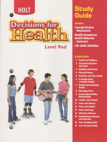9780030788314: Decisions for Health: Study Guide Level Red