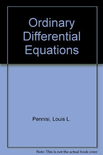 9780030789502: Ordinary Differential Equations