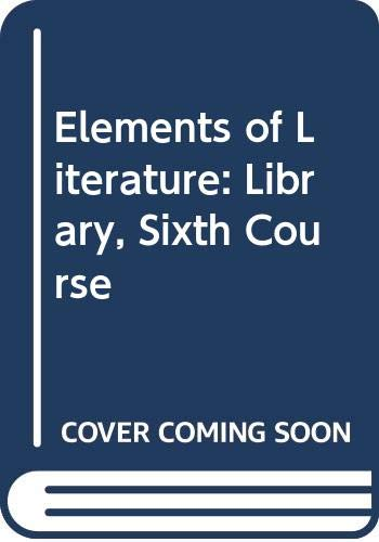 9780030789748: Audio CD Library Sixth Course, Holt Elements of Literature