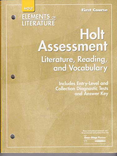 9780030789939: Elements of Literature: Assessment First Course