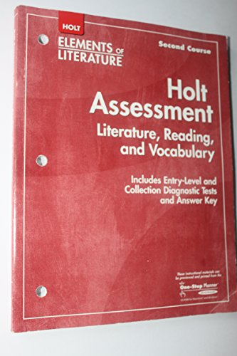 9780030789946: Elements of Literature, 2nd Course, Grade 8: Holt Assessment Literature, Reading and Vocabulary
