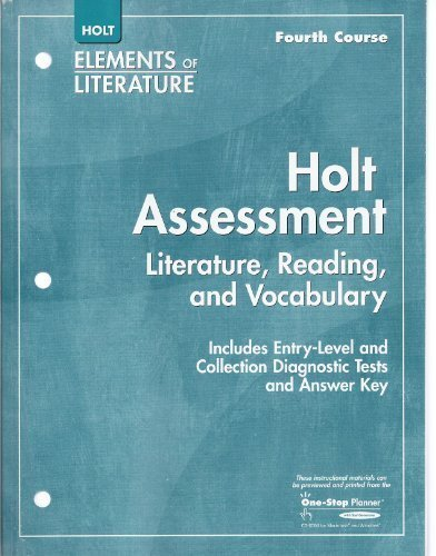 9780030789977: Elements of Literature: Holt Assessment Literature, Reading, and Vocabulary Grade 10 Fourth Course