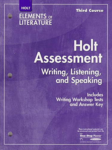 9780030790041: Elements of Literature: Assessment Third Course