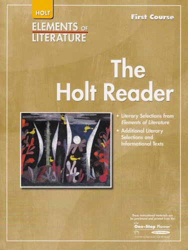 9780030790195: Holt Elements of Literature, The Holt Reader, First Course Grade 7