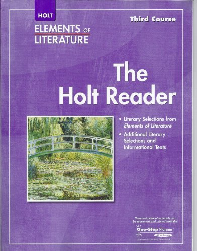9780030790225: Elements of Literature: The Holt Reader, 3rd Course