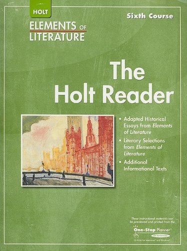 9780030790263: Elements of Literature: Reader Grade 12 Sixth Course