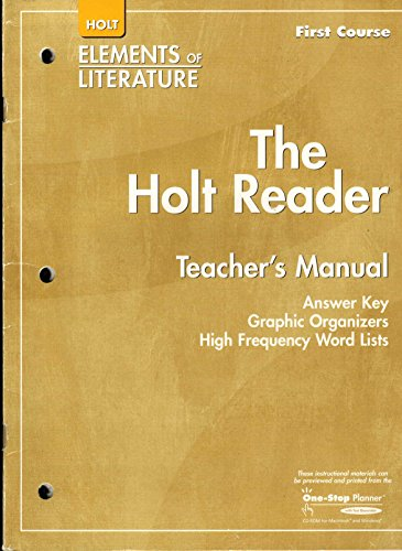 9780030790287: Holt Elements of Literature, First Course: The Holt Reader Teacher's Manual