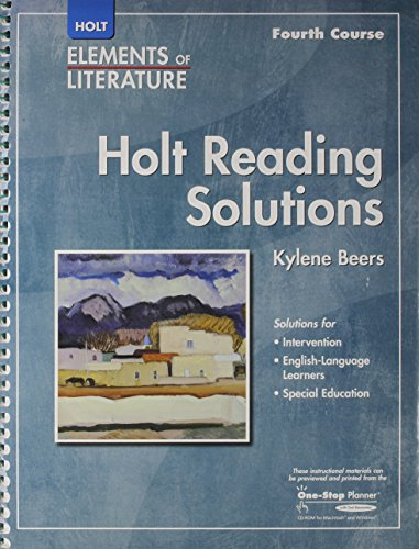 9780030790416: Holt Elements of Literature: Reading Solutions, Grade 10, 4th Course