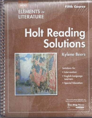 9780030790423: Elements of Literature: Reading Solutions Fifth Course