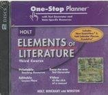 9780030790492: Elements of Literature: One Stop Planner with Test Generator and State Specific Resources CDROM Grade 9 Third Course