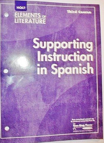 Supporting Inst/Spn Eolit 2007 G 9: Rheinhart And Winston Holt