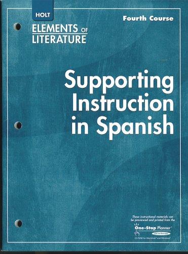 Holt Supporting Instruction Spanish Abebooks