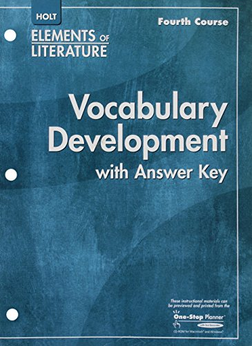 9780030790683: Elements of Literature: Vocabulary Development with answer key, 4th Course