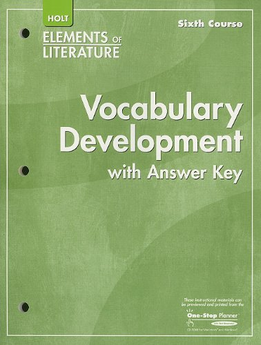 9780030790713: Elements of Literature: Vocubulary Development Sixth Course