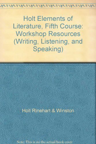 9780030790782: Elements of Literature: Workshop Resources Fifth Course