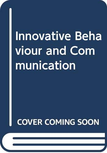 9780030791055: Innovative Behaviour and Communication (Editors' series in marketing)