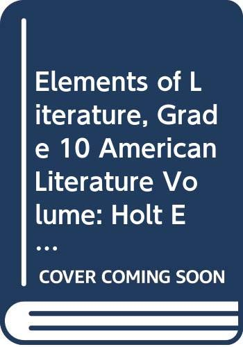 9780030791444: Elements of Literature: Volume 1, Fifth Course, Alabama Edition (American Lit)
