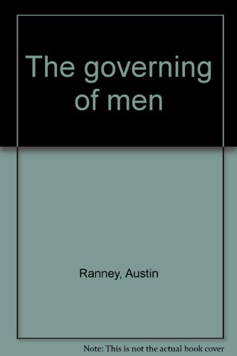 9780030791505: The governing of men