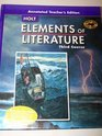 9780030791727: Elements of Literature, Grade 9 Third Course: Holt Elements of Literature Indiana (Eolit 2007)