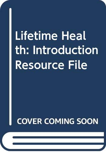 Holt Lifetime Health, Resource File, Program Introduction