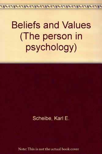 9780030792151: Beliefs and Values (The Person in psychology series)
