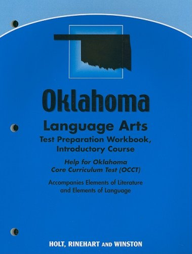 9780030792274: Elements of Literature Oklahoma: Language Arts Test Preparation Workbook Introductory Course