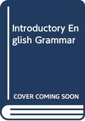 9780030793707: An Introductory English Grammar