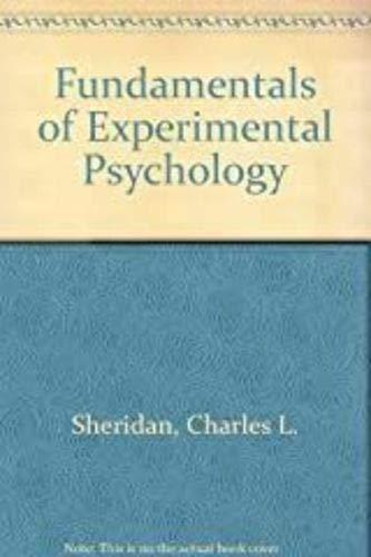 9780030794957: Fundamentals of Experimental Psychology