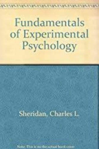 9780030794957: Fundamentals of Experimental Psychology