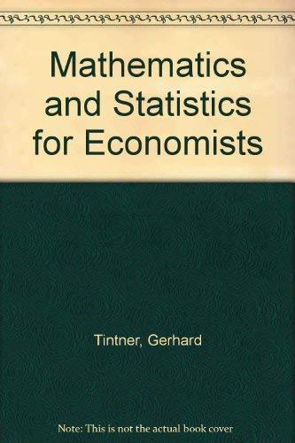 9780030795107: Mathematics and Statistics for Economists
