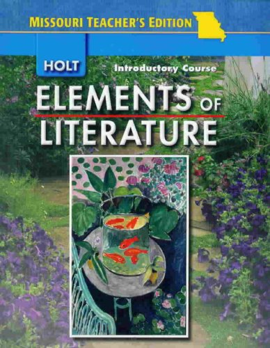 9780030795121: Elements of Literature Introductory Course - Missouri Teacher's Edition