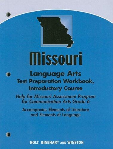 9780030795213: Elements of Literature Missouri: Language Arts Test Preparation Workbook Introductory Course