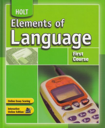 9780030796784: Elements of Language: Student Edition First Course 2007