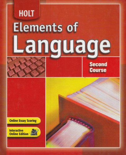 Elements of Language: Second Course: Lee Odell; Richard