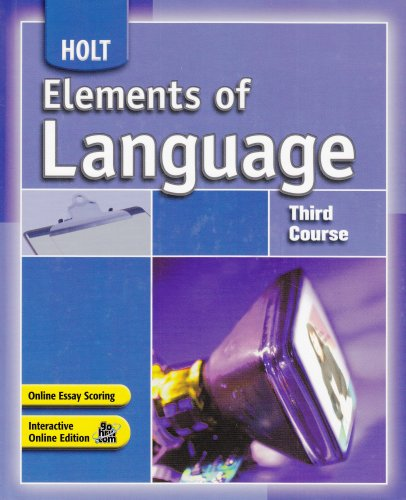 9780030796814: Elements of Language: Third Course, Grade 9