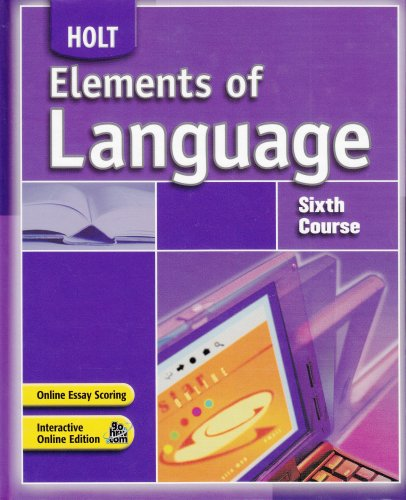 9780030796845: Elements of Language: Student Edition Sixth Course 2007
