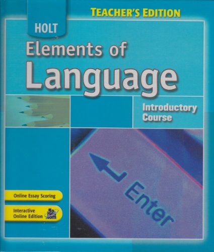 9780030796869: Holt Elements of Language (Teacher's Edition) Introductory Course