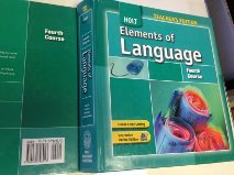 9780030796913: Holt Elements of Language (Fourth Course) teacher edition