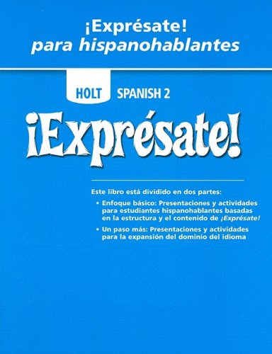 9780030797064: �Expr�sate!: Expresate Para Hispanohablantes Student Edition Level 2