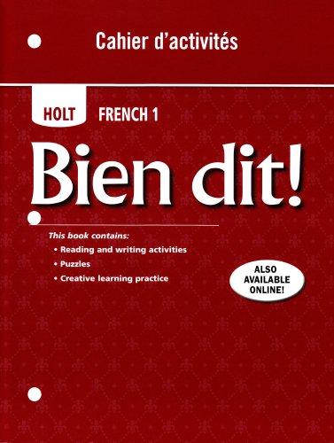 9780030797187: Bien dit!: Cahier d'activites Student Edition Level 1A/1B/1
