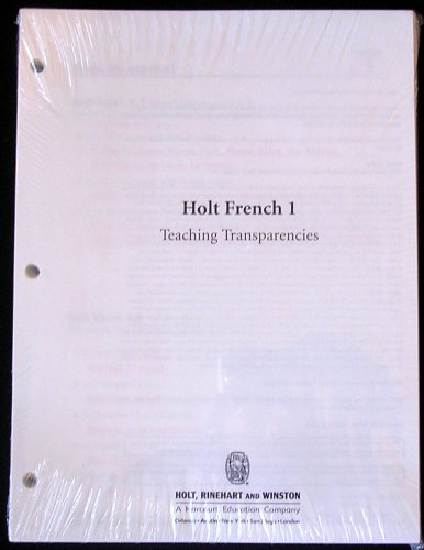 9780030797262 Holt French 1 Teaching Transparencies