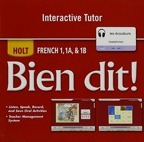 9780030797378: Bien dit!: Interactive DVD Tutor Level 1A/1B/1