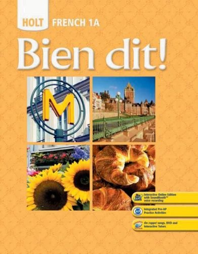 9780030797491: Bien dit!: Student Edition Level 1A 2008