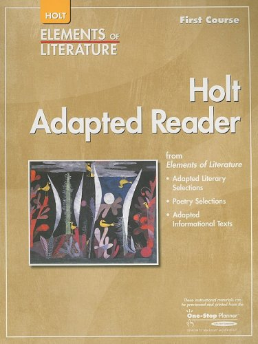 9780030798023: Elements of Literature: Adapted Reader Grade 7 First Course