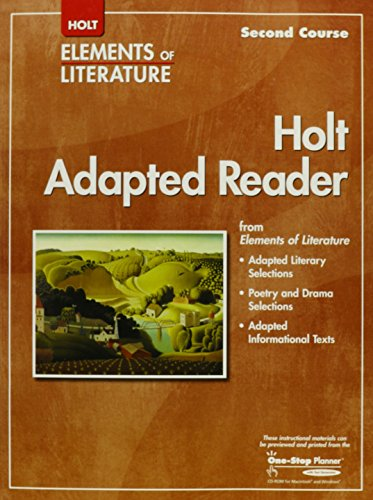 9780030798030: Elements of Literature: Adapted Reader Grade 8 Second Course
