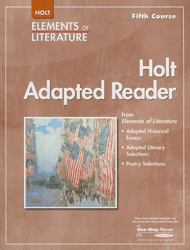 9780030798078: Elements of Literature: Adapted Reader Grade 11 Fifth Course